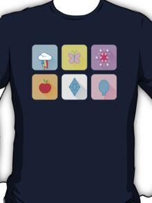 My Little Pony - Mane Six Flat Icons T-Shirt