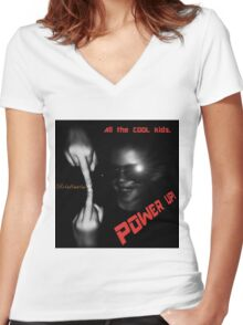 Cool Kids-Power Up  Women's Fitted V-Neck T-Shirt