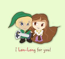 Zelda Valentine: 'Lon Lon' Link & Malon  by Alice Edwards