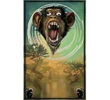 Dizzy Monkey Photographic Print