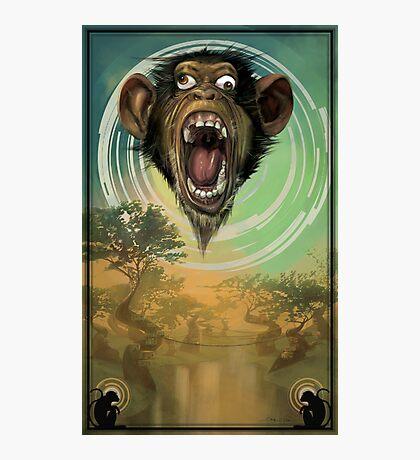 Dizzy Monkey Photographic Print