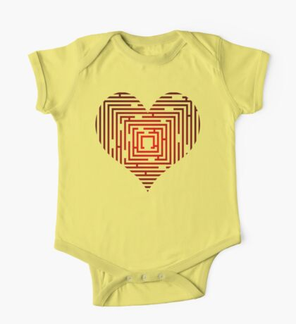 maze in the heart One Piece - Short Sleeve