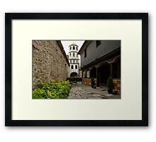 Of Courtyards and Belfries  Framed Print