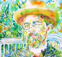 ANTON CHEKHOV - watercolor portrait.1 by lautir
