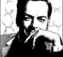 Richard Feynman by AnglesAndAcid