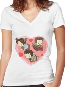 SuperNatural Chibi Women's Fitted V-Neck T-Shirt