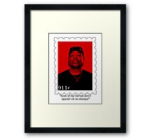 """most of my heroes don't appear on no stamps"" Framed Print"