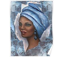 Regal Lady in Blue Poster