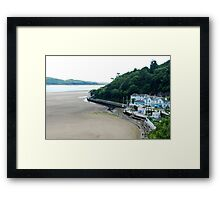 On the beach of Portmeirion (Wales) Framed Print