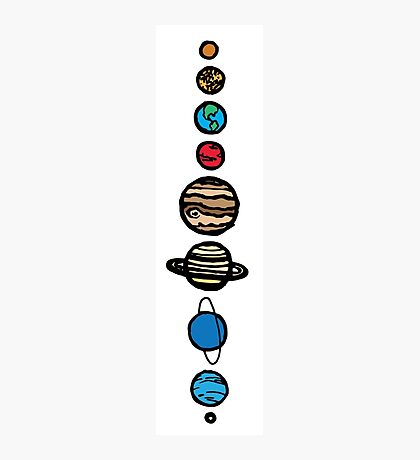 Planets Colour Photographic Print