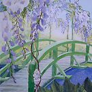 Monets Bridge by Val Spayne