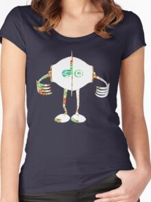 Boon - Multicolor - Robot Women's Fitted Scoop T-Shirt