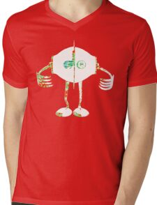 Boon - Multicolor - Robot Mens V-Neck T-Shirt