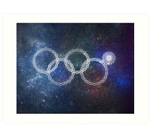 Sochi Olympic Rings Art Print