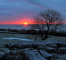 a winter sunset at winskill stones by sean-gibson