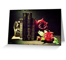 Demon & Roses Greeting Card