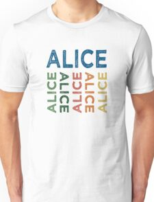 Alice Cute Colorful Unisex T-Shirt