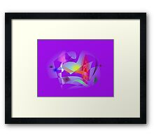 Small World Purple  Framed Print