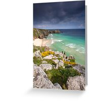 Cornwall - Atlantic Blues Greeting Card