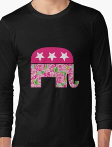 (Lilly Pulitzer-esque) Preppy Republican Long Sleeve T-Shirt