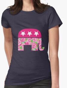 (Lilly Pulitzer-esque) Preppy Republican Womens Fitted T-Shirt