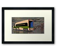 Ice Road Trucking Framed Print
