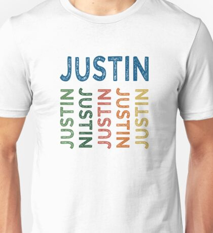Justin Cute Colorful Unisex T-Shirt
