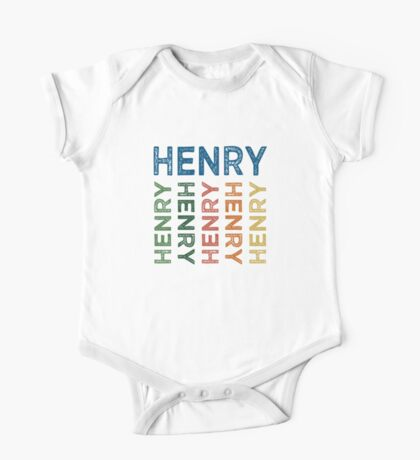 Henry Cute Colorful One Piece - Short Sleeve