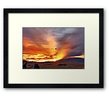 Palomino Valley Nevada Sunset Framed Print