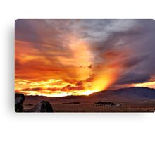 Palomino Valley Nevada Sunset Canvas Print