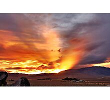 Palomino Valley Nevada Sunset Photographic Print