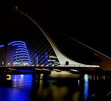 Samuel Beckett Bridge Dublin Ireland - Night Shot by scotsann