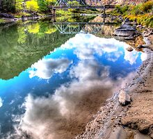 The Rio Grande upstream from the John Dunn Bridge (HDR) by Gary Cascio