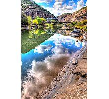 The Rio Grande upstream from the John Dunn Bridge (HDR) Photographic Print