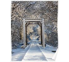 Snowy Train Trestle Poster