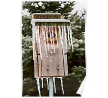 Icicle Birdhouse Poster