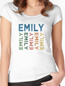 Emily Cute Colorful Women's Fitted Scoop T-Shirt