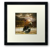 Music Man in the City Framed Print