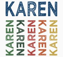 Karen Cute Colorful by Wordy Type