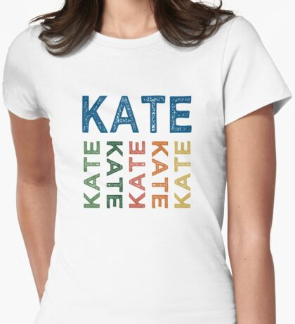 Kate Cute Colorful Womens Fitted T-Shirt