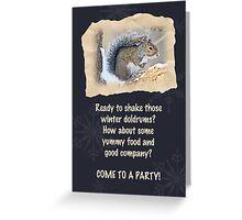 Party Invitation - Eastern Gray Squirrel - Sciurus carolinensis Greeting Card