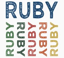 Ruby Cute Colorful by Wordy Type
