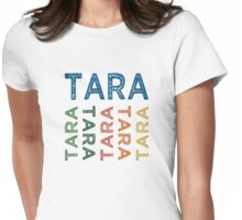 Tara Cute Colorful Womens Fitted T-Shirt