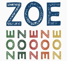Zoe Cute Colorful by Wordy Type
