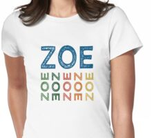 Zoe Cute Colorful Womens Fitted T-Shirt