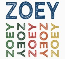 Zoey Cute Colorful by Wordy Type