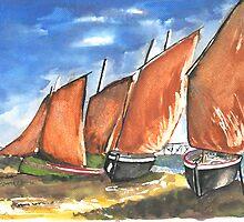 Sienna sail boats by amreesh
