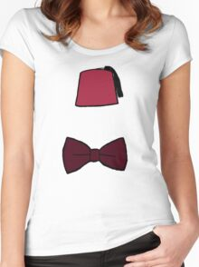 Fezzes/Bowties are Cool Women's Fitted Scoop T-Shirt