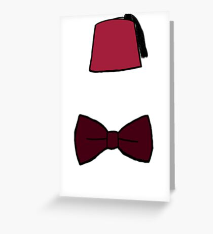 Fezzes/Bowties are Cool Greeting Card