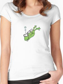 Diving Frog Women's Fitted Scoop T-Shirt